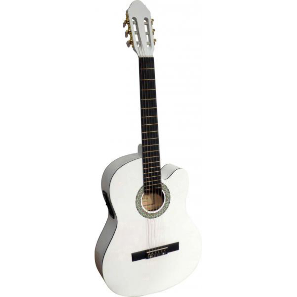guitare classique ashley electro cg465cewh musique. Black Bedroom Furniture Sets. Home Design Ideas
