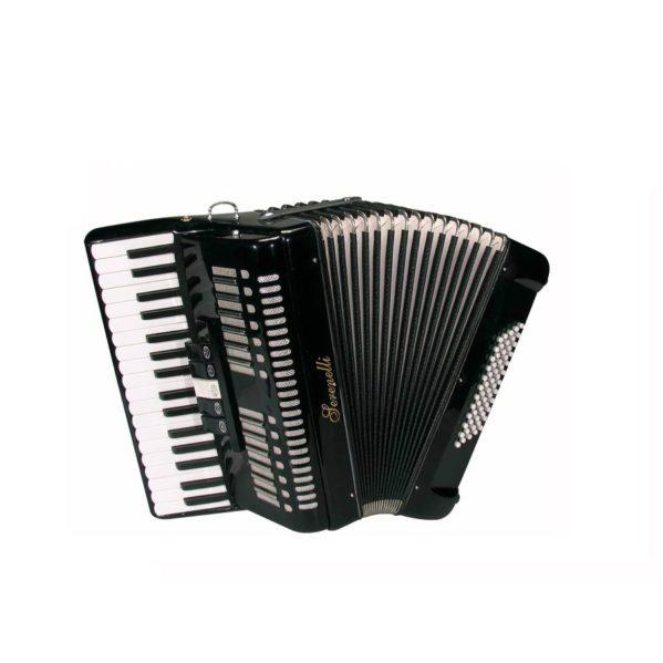 accordéon chromatique 60 basses serenelli y6034bk