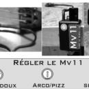 installation reglage micro violon mv11