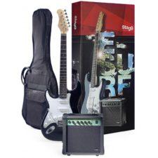 pack guitare électrique stagg 250lhbk