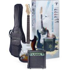 pack guitare électrique stagg 250lhsb