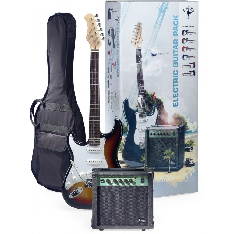 pack guitare electrique complet stagg 250lhsb pour gaucher. Black Bedroom Furniture Sets. Home Design Ideas