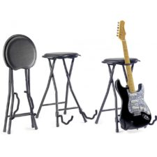 tabouret et stand guitare stagg gist-300