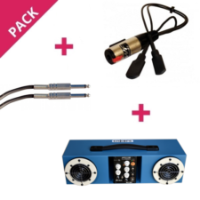 Pack ampli autonome micro instrument contrebasse mb1 cable RT20
