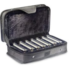 malette 7 harmonicas stagg bjh-b20 set1