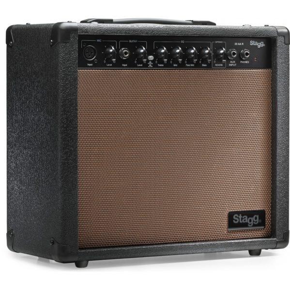 amplificateur guitare acoustique stagg 20 aa r eu
