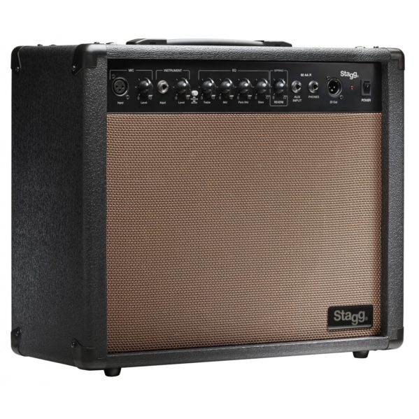 amplificateur guitare acoustique stagg 60 aa r eu