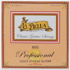 jeu de cordes classique la bella pour guitare 8 cordes