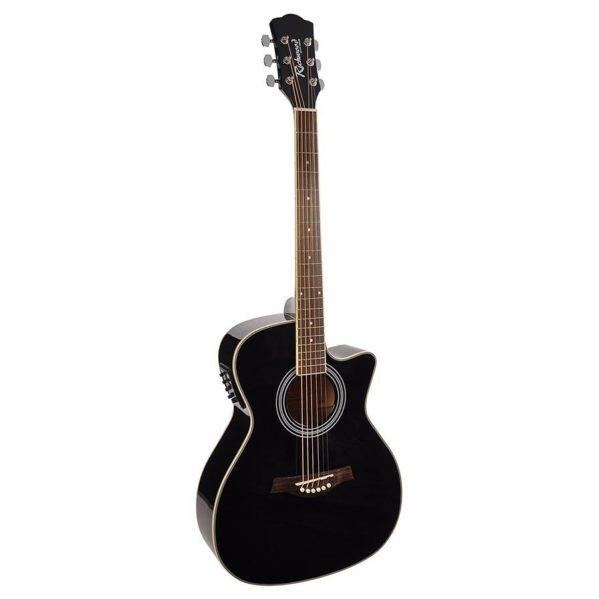 guitare acoustique master serie richwood rg-16-cebk