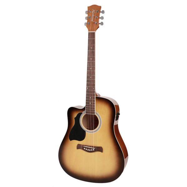 guitare folk electro richwood modèle gaucher rd12lcesb