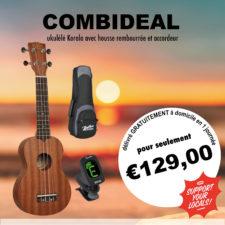 pack ukulele korala uks250 avec housse et accordeur