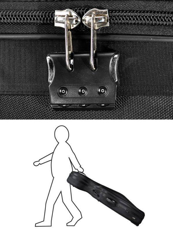 etui violoncelle avec roulettes leonardo cc-244bk