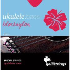 jeu de cordes galli black uxb-810 pour basse ukulele