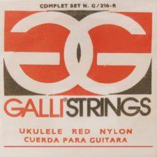 jeu de cordes galli g216r red nylon pour ukulele