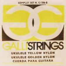 jeu de cordes galli g216y yellow nylon pour ukulele