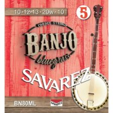 jeu de cordes savarez medium light banjo bn80ml