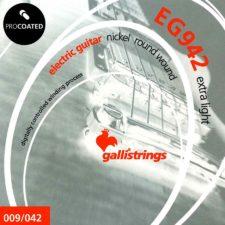 jeu de cordes guitare electrique galli g0942
